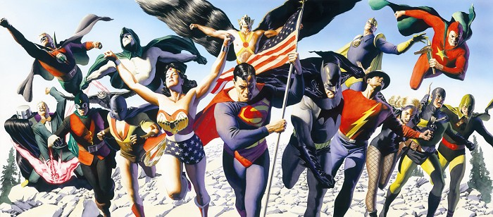 Alex Ross Justice Society Giclee On Canvas