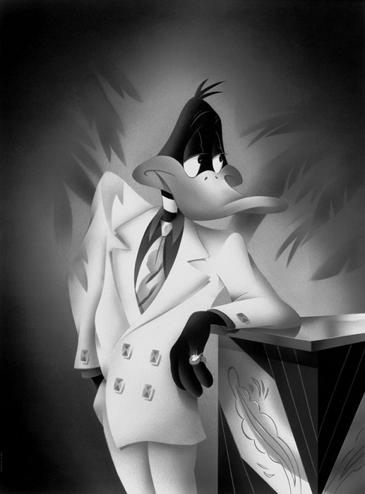 Alan Bodner and Harry SabinPortrait Series  Daffy DuckGiclee On Canvas