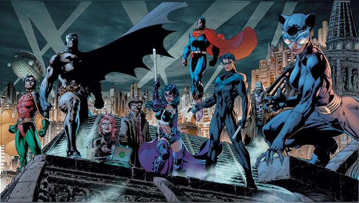 Jim Lee Heroes Giclee On Canvas