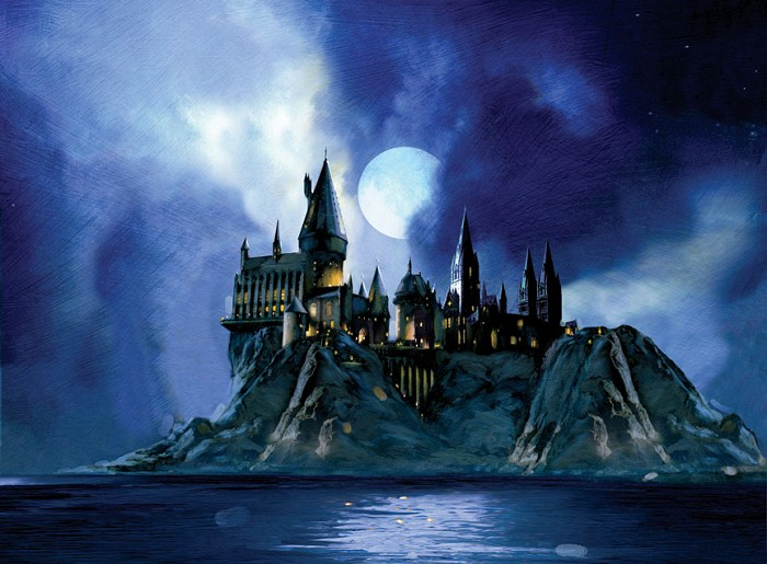 Jim Salvati Full Moon at Hogwarts From Harry Potter Giclee On Canvas