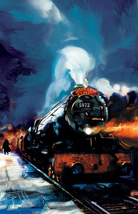 Jim Salvati Hogwarts Express From Harry Potter Giclee On Canvas