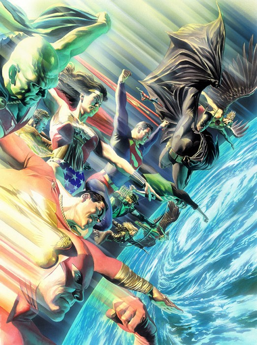 Alex Ross Protector's of the Universe Giclee On Canvas
