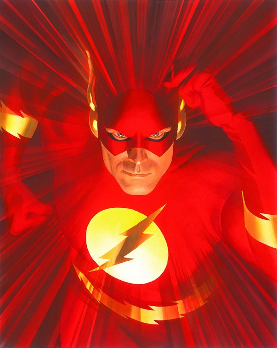 Alex Ross Flash Mythology Giclee On Canvas