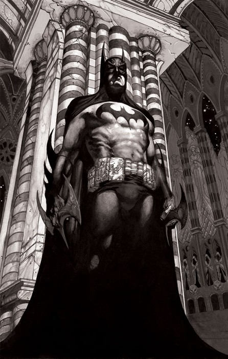 Simone Bianchi Batman Face to Face Giclee On Canvas