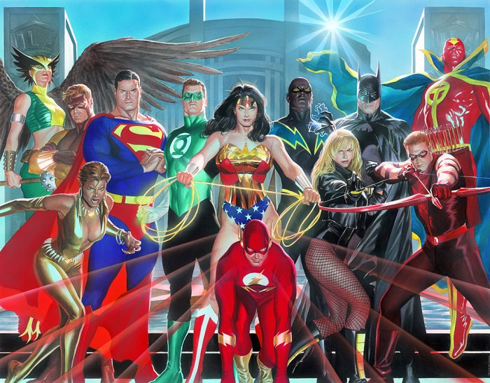 Alex Ross Where Justice Resides Giclee On Canvas