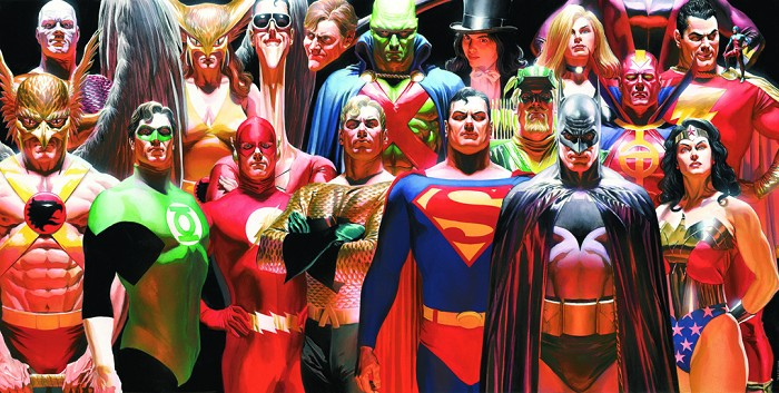 Alex Ross Infinitely Heroic Giclee On Canvas