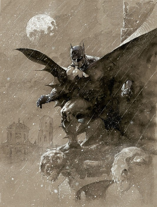 Jim Lee Batman Over San Prospero Giclee On Paper