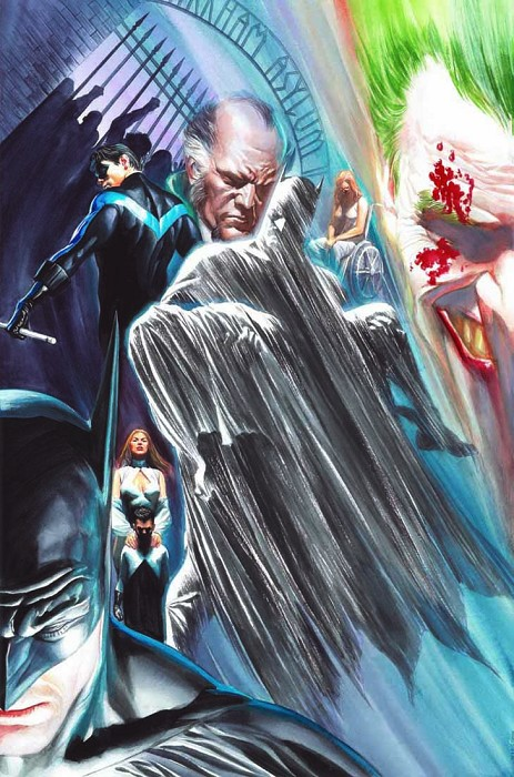 Alex Ross Batman Last Rites Giclee On Canvas