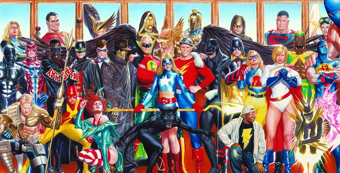 Alex Ross Justice Society: Generations Giclee On Canvas