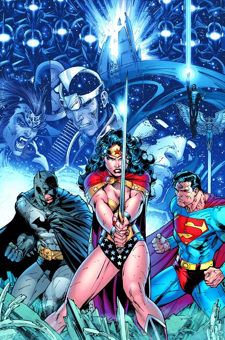 Jim Lee Infinite Crisis Giclee On Canvas