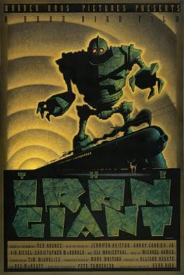 Mark Whiting The Iron Giant Giclee On Canvas