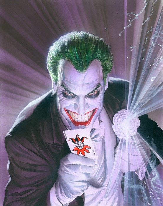 Alex Ross The Joker Mythology Giclee On Canvas