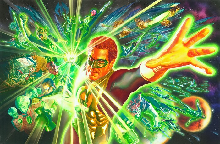 Alex Ross Green Lantern and the Power Ring Giclee On Canvas