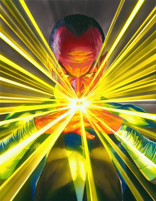 Alex Ross Sinestro Mythology Giclee On Canvas