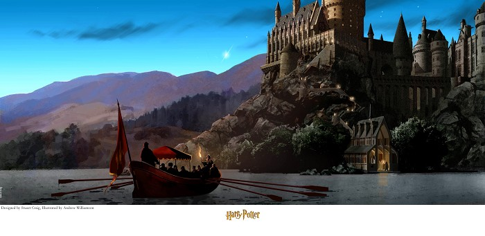 Stuart Craig Journey to Hogwart's Giclee On Canvas