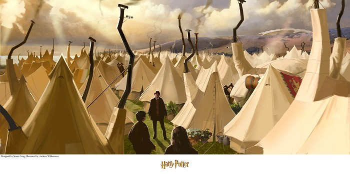 Stuart Craig Tent City Giclee On Paper