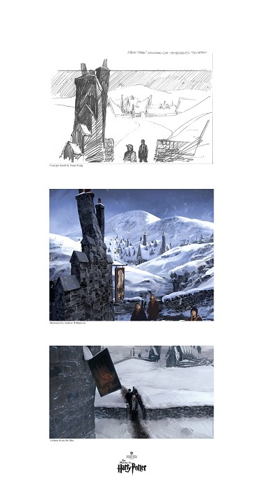 Stuart Craig Creating Hogsmeade Triptychs Giclee On Paper