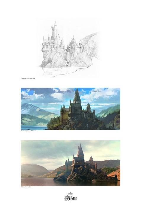 Stuart CraigCreating Hogwarts & the Black Lake TriptychsGiclee On Paper