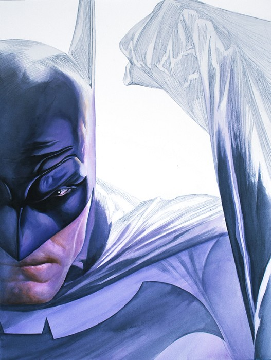 Alex Ross Rough Justice-Batman Giclee On Canvas