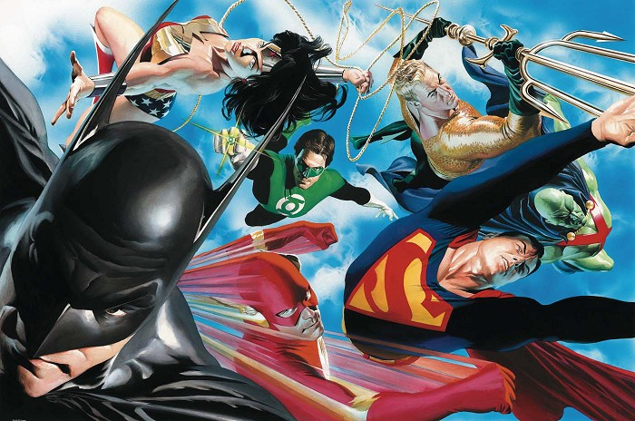 Alex Ross Liberty and Justice Giclee On Canvas