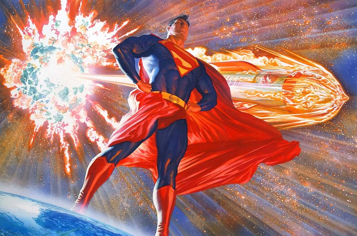 Alex Ross Superman Son of Krypton Giclee On Canvas