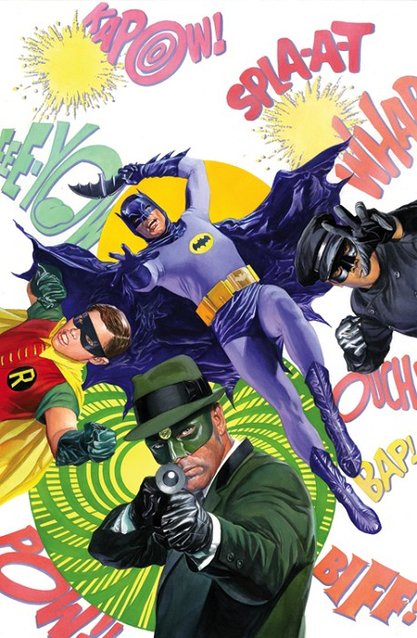 Alex Ross Batman 66 & the Green Hornet Giclee On Canvas