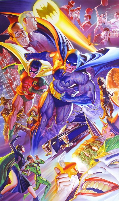 Alex Ross 75th Anniversary The History of Batman Giclee On Canvas
