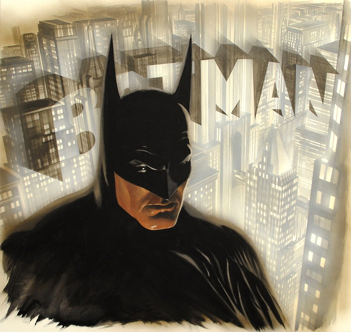 Alex Ross Batman the Legend Giclee On Paper