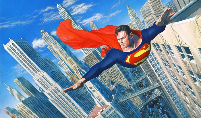 Alex Ross Look Up in the Sky Giclee On Canvas