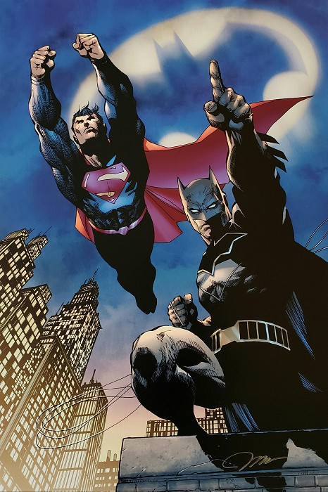 Jim Lee Heroes Unite! Giclee On Canvas