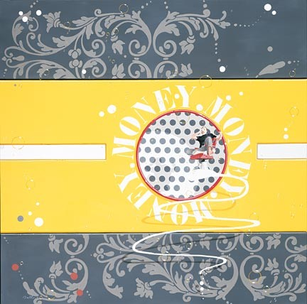Philippe BerthoMoney Gold Serigraph