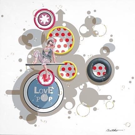 Philippe BerthoLove Pop 3 Serigraph