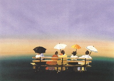 Sally Caldwell FisherRusticators Watching the Sunset