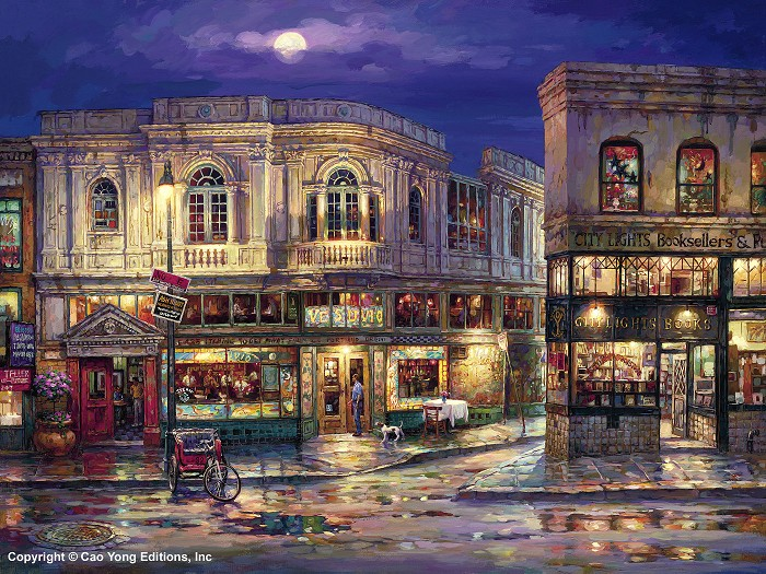 Cao YongCity LightGiclee On Canvas The Golden Coast Series