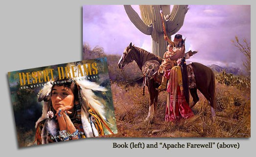 Don CrowleyDESERT DREAMS THE WESTERN ART OF DON CR COLL. BOOK andCanvas