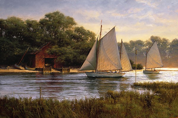 Don Demers By the Old Boat House Canvas