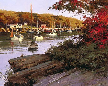 Don Demers Autumn in Little River Giclee On Canvas