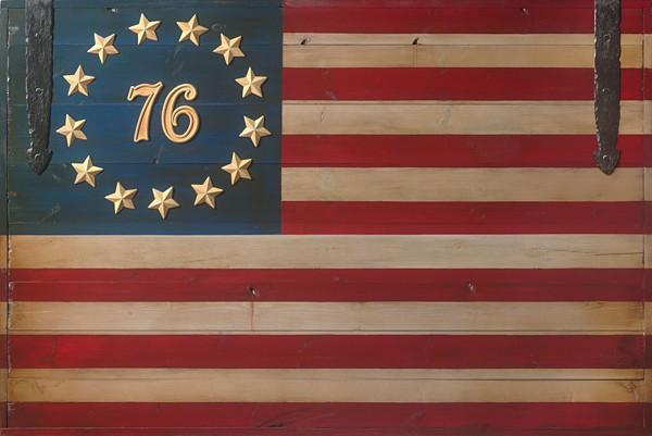 David GrantThe Spirit of 76 Flag OPEN EDITIONCanvas