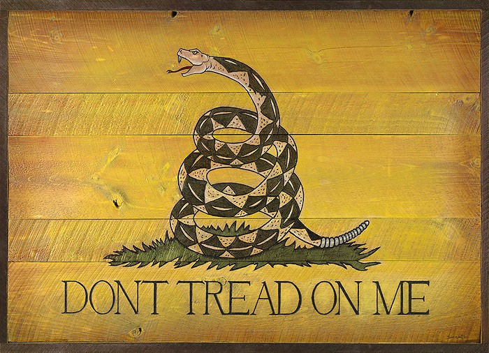 David Grant Dont Tread On Me Barn Door OPEN EDITION Canvas