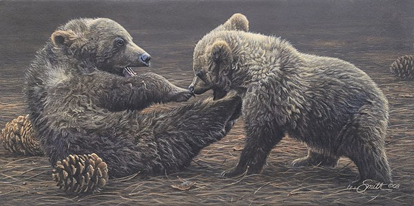 Daniel Smith Brawlin Bruins SMALLWORK EDITION ON Canvas