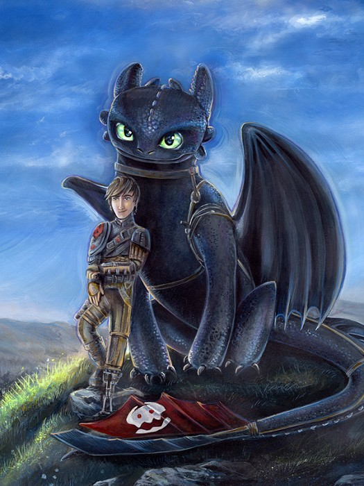 Jerry Vanderstelt Buddies From How To Train Your Dragon 2 Giclee On Canvas