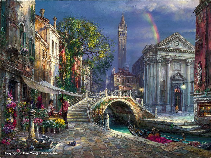 Cao Yong Day Of Love Giclee On Canvas The Venice Series