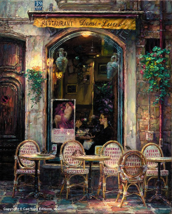 Cao YongDemi LuneGiclee On Canvas The Paris Series