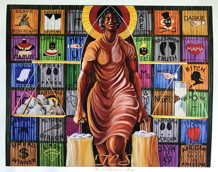 Ernie Barnes A Walk In Faith Giclee On Paper