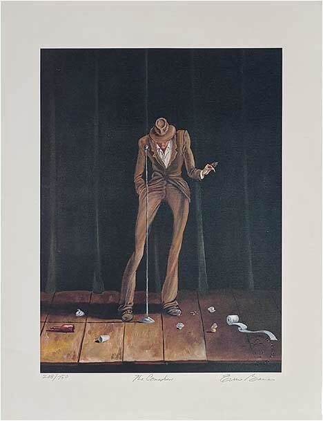 Ernie BarnesThe Comedian Signed And Numbered Limited EditionLithograph
