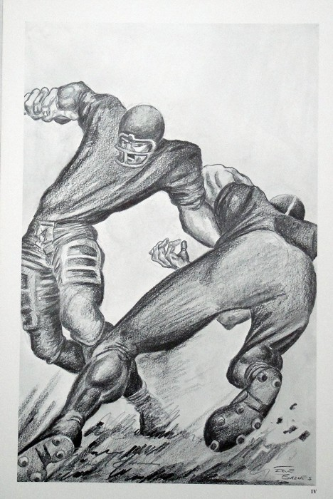 Ernie Barnes The Handoff  Lithograph