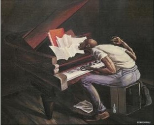 Ernie Barnes The Tunesmith number 3 Giclee On Paper