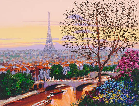 Kerry Hallam Paris Sunset