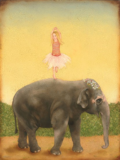 Emily McPhie Pirouettes and Pachyderms Canvas
