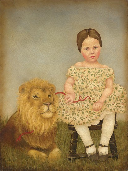Emily McPhie Serena and Her Lion Canvas